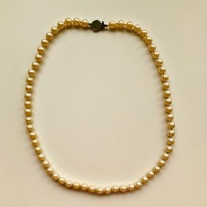 Vintage Pearl Costume Jewelry Necklace